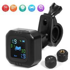 Motorcycle TPMS Tire Pressure Wireless Monitor System+External Pressure Sensor