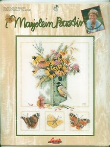 """Marjolein Bastin Collection """" Birdhouse In Bloom """" Counted Cross Stitch Kit"""