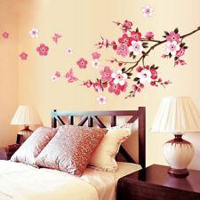Room Peach Blossom Flower Butterfly Wall Stickers Vinyl Art Decals Decor Mural