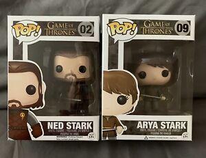 Funko Pop!,Game Of Thrones Arya And Ned Stark Figures. Brand New!