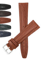 Bandini Womens Watch Band Leather, Alligator Pattern 12mm - 20mm Extra Long Also