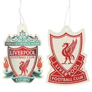 LIVERPOOL FC 2 PACK AIR FRESHENER CAR ACCESSORY ROOM OFFICE LFC OFFICIAL GIFT