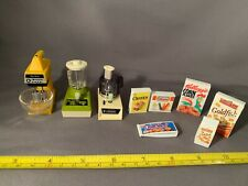 Lot of 9 Dollhouse Miniatures for Kitchen: Mixer, Blender, Food Processor