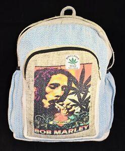 New Printed Hemp & Cotton Back Pack Bag Rasta Reggae Hippy Hippie Festival
