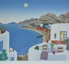 THOMAS McKNIGHT Livadi Return to Mykonos HAND SIGNED Orig Serigraph 1990 GREECE