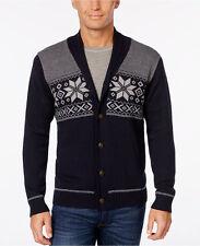 Weatherproof Vintage Weatherproof Men's Snowflake Cardigan Sweater, Classic Fit