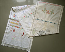 CIRCA 1920 - 1930 LARGE COLORFUL VINTAGE DUTCH SAMPLER 'BLESS OUR FAMILY'