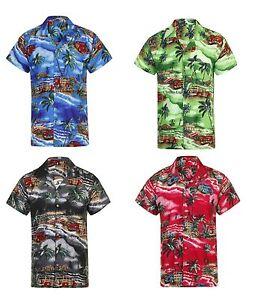 LOUD MENS ALOHA HAWAIIAN SHIRT HAWAII HOLIDAY BEACH STAG SUMMER PARTY S-4XL NEW