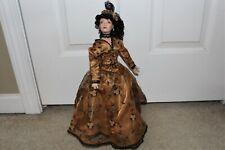 Vtg Paradise Galleries Kathleen Hill Porcelain Mimi Doll Musical Begin Beguine