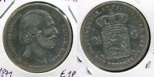 NIEDERLANDE 1871 - 2 1/2 Gulden in Silber, ss - WILLEM III.