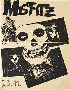 "MISFITS ""Misfitz"" Punk Rock Relics Vintage Poster Print Canvas Giclee Annex Art"