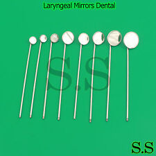 8 Laryngeal Mirrors Dental Surgical Medical Instruments #00 , 0, 1, 2, 3, 4, 5,6