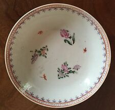 Antique 18th c. Chinese Export Porcelain Plate Saucer Bowl Famille Rose Dish