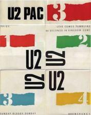"U2 Pac 3 - set Of 4 Singles + Display Sleeve Irish 7"" CBS RARE *U2*Bono*POP*ROCK"