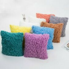 Plush Cushion Cover Fluffy Soft Decor Throw Pillow Cases Faux Feather Down Solid