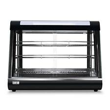 Food Court Restaurant Heated Food pizza Display Warmer Cabinet Case Glass, Black