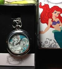New Disney The Little Mermaid Ariel Pocket Watch Necklace NIB