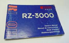 Original User Instruction Manual for Ricoh RZ-3000 Camera