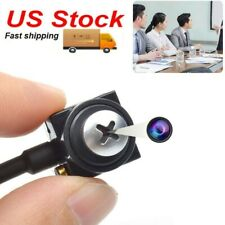 Mini Small HD Spy screw Lens CCTV Color micro Camera Security Video Cam With Mic