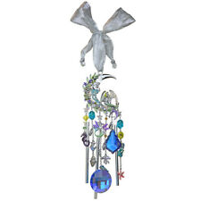 Kirks Folly Mermaid Moon Crystal Wind Chime silvertone