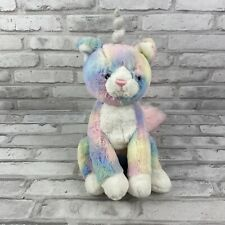 GUND Caticorn Cat Unicorn Rainbow Shimmer Pink Silver Large Plush Stuffed Animal