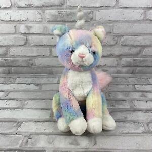 GUND Caticorn Cat Unicorn Rainbow Shimmer Pink Silver Large Plush Stuffed Animal