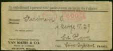 Germany 1923 600m bulk mail meter-type stamp