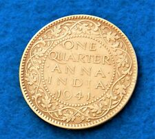 1941 (c) India 1/4 Anna  - Fantastic Coin - See PICS