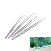 Aquarium Live Tank Curve Plant Long Tongs Stainless Steel Tweezers 38/48cm TECA