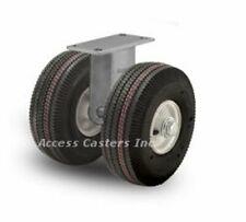 "18PN294R 18"" Dual Wheel Pneumatic Heavy Duty Rigid Plate Caster 3180 lb Capacity"