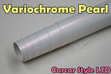 Variochrome Pearl White 750 mm x 300mm Véhicule Vinyle Wrap Autocollant air libre