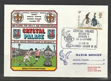 Stamp Cover 1979 Crystal palace Vs Southampton, CP return to Division 1 as champ