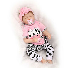22inch Lifelike Sleeping Baby Doll Silicone Vinyl Reborn Newborn Dolls+Clothes