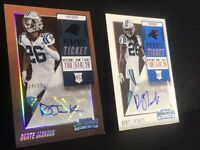 2018 Panini Contenders Lot 2: AUTO RC DONTE JACKSON PLAYOFF TIC /99 & ROOKIE TIC