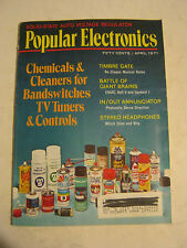 April 1971 Popular Electronics Magazine - Chemicals & Cleaners  (SS-9)