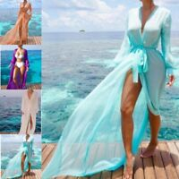 Women Beach Cover Up Dress Lace Beach Tunic Chiffon Swimsuit Bikini Cover Ups
