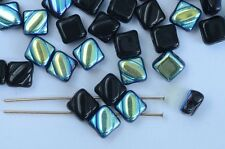 Silky Black Jet AB 23980-28701 Czech Glass Beads x 10g