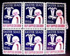 HELP CRIPPLED CHILDREN SEALS, EASTER 1956 (SEE ITEM DESCRIPTION)