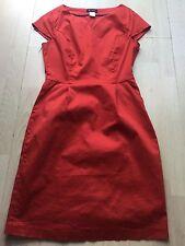 La Redoute essentiel women red cotton party dress size 10