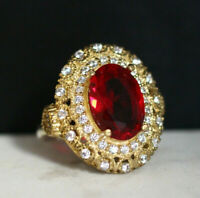 925 Sterling Silver Handmade Authentic Turkish Ruby Ladies Ring Size 6
