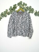 VINCE CAMUTO Knit Sweater Women's Long Sleeve Crew Neck Gray Size XL NWT