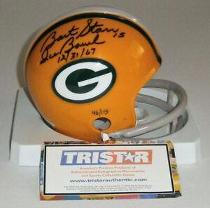 PACKERS Bart Starr signed mini helmet w/ Ice Bowl 12-31-67 Tristar AUTO Autograp