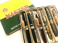 Japanese vintage MASTER  pens 6 sets unused  box 1950  ink shot off  from Japan