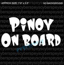 Pinoy On Board Art Design Car Vinyl Sticker Decals