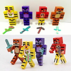 Five Nights at Freddys x 4 Figures Moving Arms & Swords