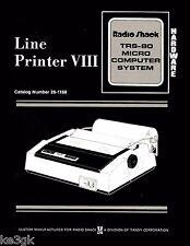 Trs-80 Line Printer Viii Hardware Manual * 26-1168 * Pdf * Cdrom