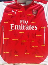 ARSENAL SIGNED SHIRT SOCCER JERSEY 22 AUTO+PROOF ALEXIS+OZIL+RAMSEY+CECH+WENGER+