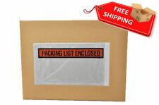 5.5 x 10 Packing List Enclosed Slip Holders Envelopes Panel Face - 5000 Pieces