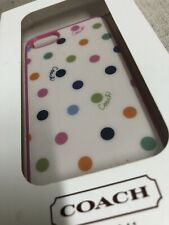 Coach Apple iPhone Case - Fits 5/5S - New in Box MULTICOLOR POLKA DOTS
