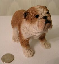 "4"" English Bulldog Realistic Wrinkled Male Bullie Dog Figurine Nice Detail"
